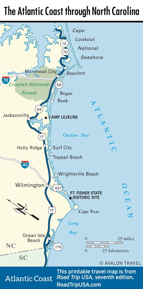 map of carolina coast carolina road trip usa