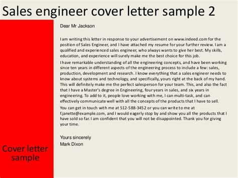 cover letter engineering sle sales engineer cover letter