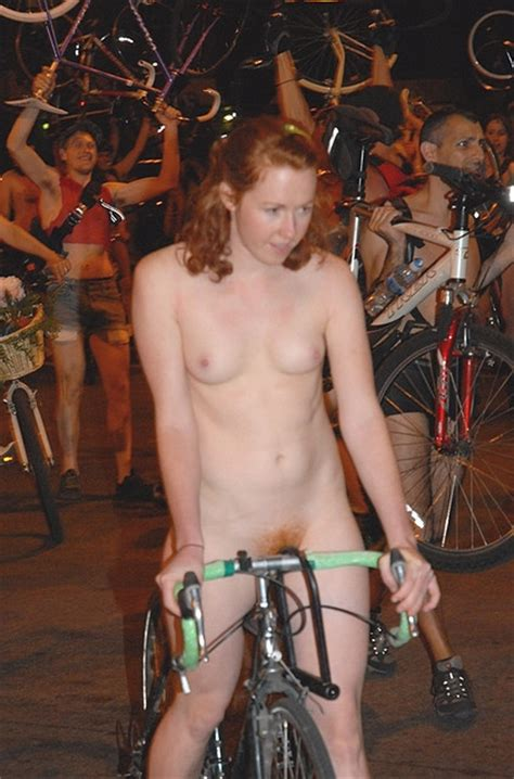 Cute Redhead At The Naked Bike Ginger