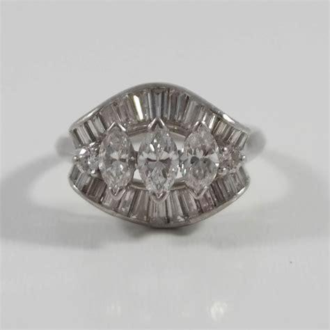 Estate Jewelry by Platinum Ring Attos Antique Estate Jewelry