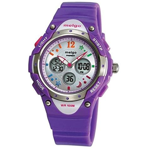 pasnew high quality water proof 100m dual time unisex