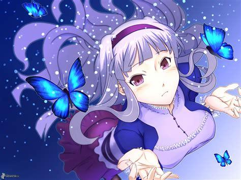 imagenes mariposas tristes chica anime