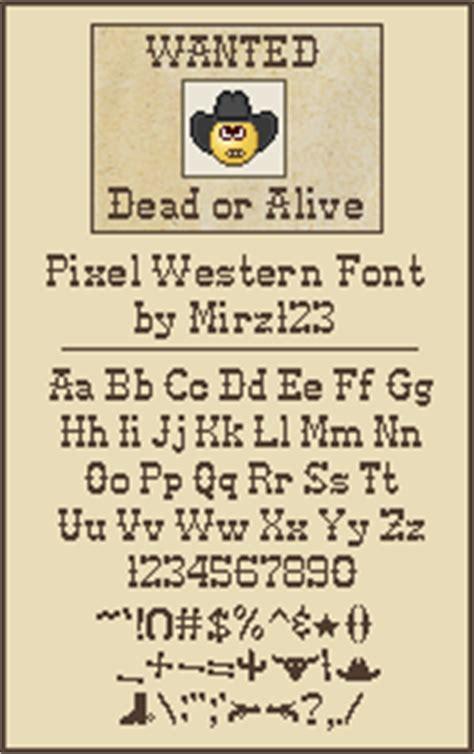 dafont western pixel western font dafont com