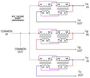 voltage boost transformer schematics wye connection ecn electrical forums