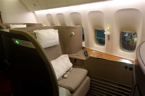 review cathay pacific 777 first class