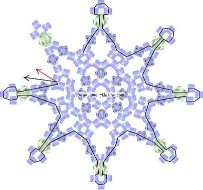 snowflake pattern spokes snowflake pattern beaded snowflake and snowflakes on