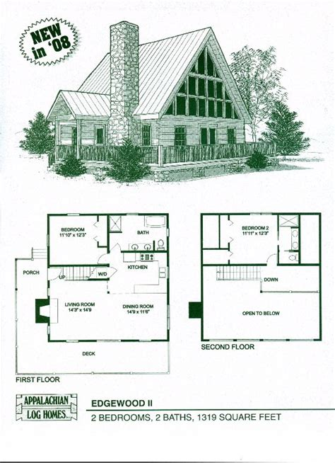 hybrid home plans appalachian log timber homes edgewood ii log cabin