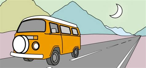 volkswagen van cartoon cartoon image of my vw cer volkswagen bus