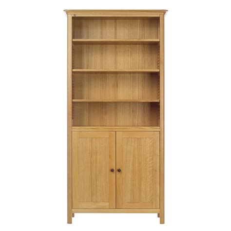 oak bookcases with doors oak bookshelves with glass doors