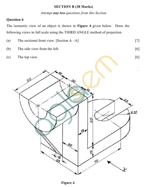 Sketches For Class 9 by Icse Class 10 Technical Drawing Sle Paper Aglasem Schools