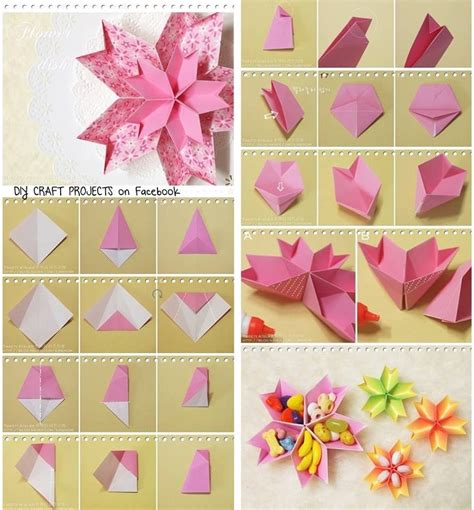 Origami Arts And Crafts - diy paper flower dish diy tutorial papercraft diy