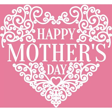 mother day greeting card design happy mother s day heart design vector greeting card 500