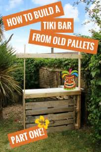 Tiki Bar Names How To Build A Tiki Bar Using Pallets Hawaiian