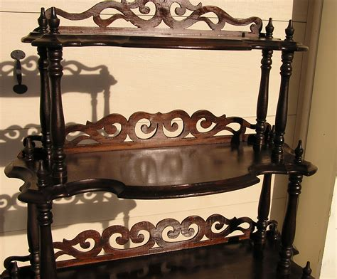 Whatnot Shelf by Walnut Etagere Waterfall Whatnot C 1870 For Sale Antiques Classifieds