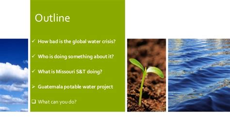 outline rubber sts global water crisis and missouri s t s chapter of