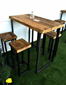 High Top Bar Tables Pipe And Wood Poseur Table Tables Contemporary Industrial Furniture On The Move Specialist