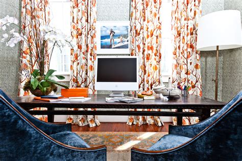 orange and blue home decor get ready now exciting hues for a new years home office