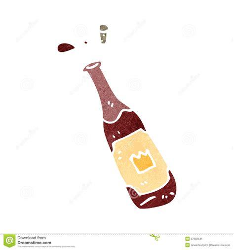 cartoon white wine retro cartoon wine bottle stock illustration image of