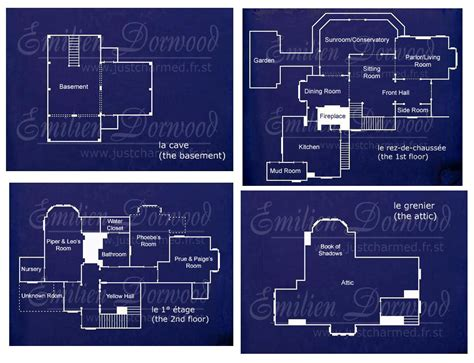 halliwell manor floor plans charmed house more specific layout home pinterest