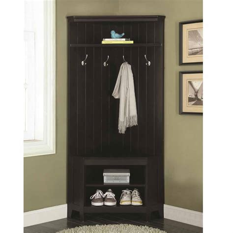 corner hall tree bench corner hall tree coat rack shoe storage cabinet bench