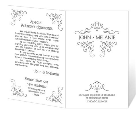 free wedding program templates microsoft word best photos of downloadable program templates wedding