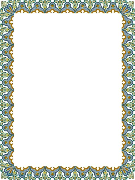 islamic pattern border pin islamic border pattern vector free for download about
