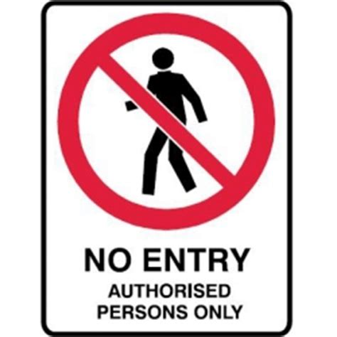 Vinyl Wall Sticker Printing no entry warning sign page