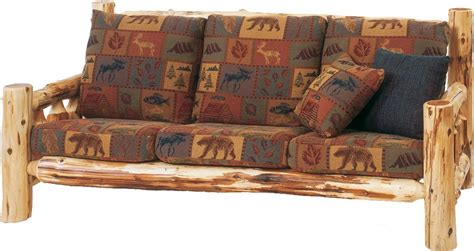 log frame beds cedar log frame 84 quot sofa from fireside lodge 13050
