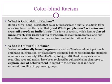 color blind racism internalized racism and academic success understanding