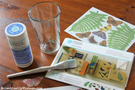 decoupage how to make a waterproof glass