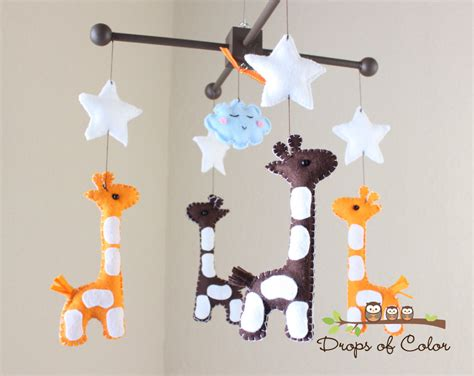 Baby Mobile For Crib Baby Mobile Baby Crib Mobile Nursery Giraffe Mobile