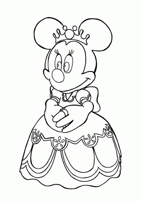 princess minnie coloring pages minnie mouse cing coloring page coloring home