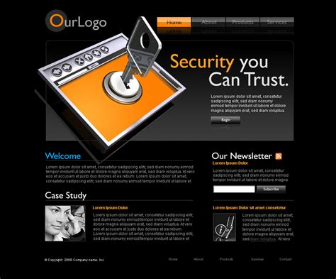 security website template source file trashedgraphics