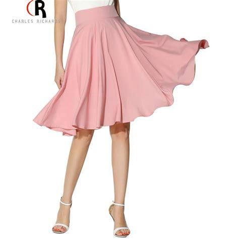 midi skirt 2016 summer clothing high waist pleated a