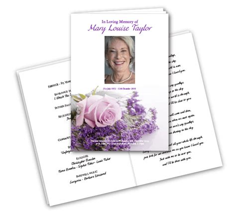 Quality Funeral Printing Guaranteed Next Day Delivery Forget Me Not Funeral Order Of Service Template Free