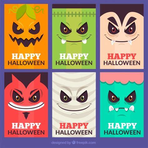 tarjeta animada para halloween halloween tarjetas tarjetas de halloween con caras de monstruos descargar