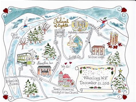 Wedding Card Route Map by Custom Wedding Map Watercolor Map Map