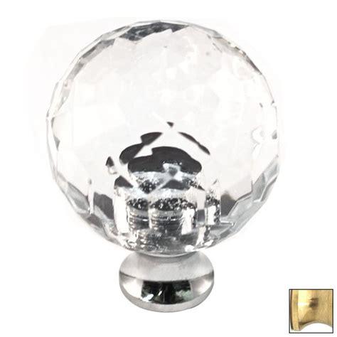 shop cal crystal polished brass crystal globe cabinet knob