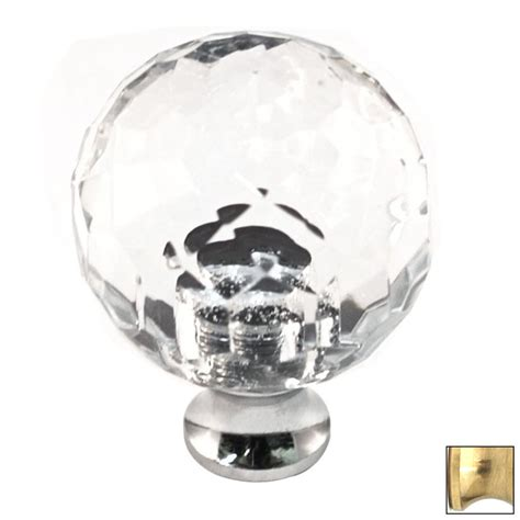 Shop Cal Crystal Crystal Polished Brass Cabinet Knob at