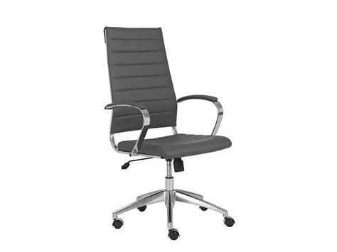 south hill design back office axel high back office chair in grey design by euro style