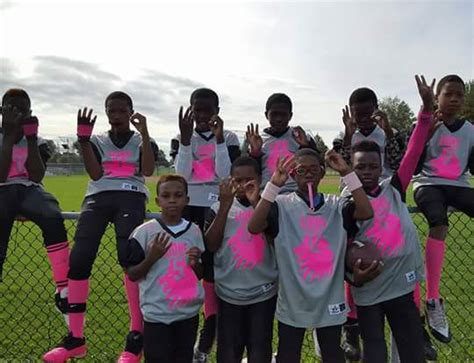 Little League Football Players   fundraising for little league football team
