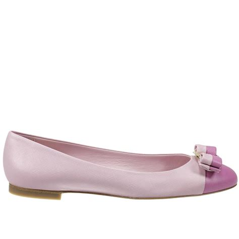 Flatshoes Pink ferragamo flat shoes in pink rosa lyst