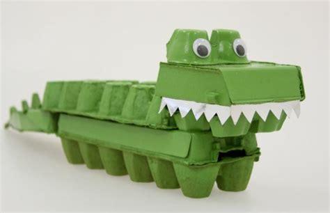 Krokodil Basteln Eierkarton by Osterdeko Basteln Ausgefallene Deko Aus Eierschachteln