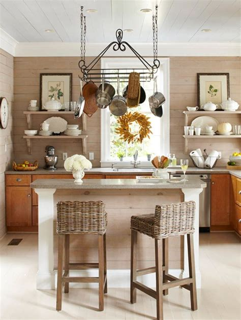 kitchen island with open shelves homey kitchen with open shelving