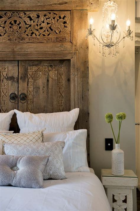upcycled door headboard as seen on houserules all