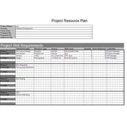 project resource planning template project resource plan exle and explanation