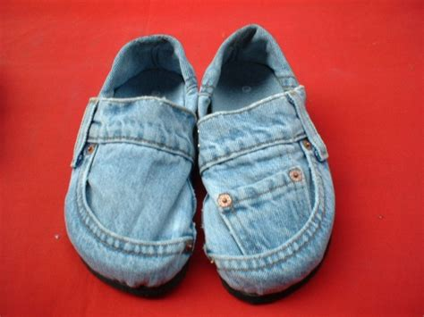 denim slippers recycled green shoes