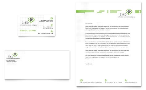 isp internet service business card letterhead template