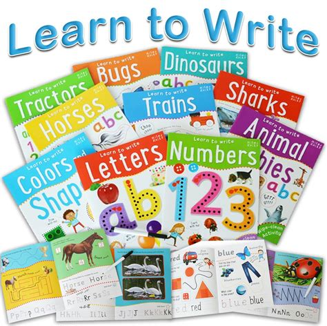 Animal Learn To Write Wipe Clean Activity Book wipe clean learn to write 10 books collection set with