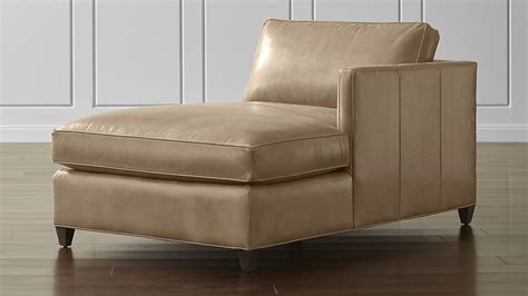 leather chaise lounge with arms dryden leather right arm chaise lounge crate and barrel